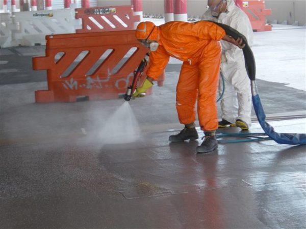 Polyurea Sprayed for Carpark Membrane